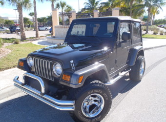 2004 JEEP WRANGLER X BLACK